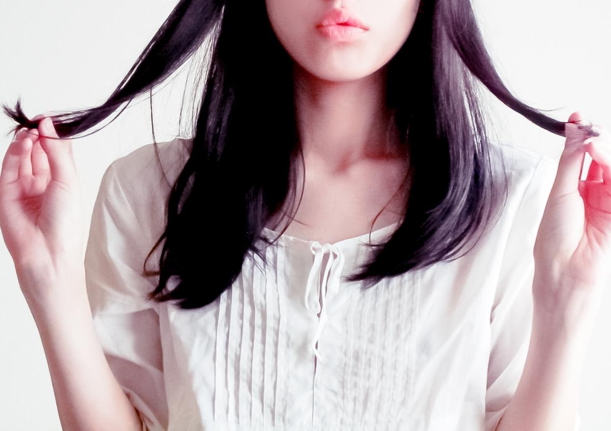 美しい髪の毛にラフィ
