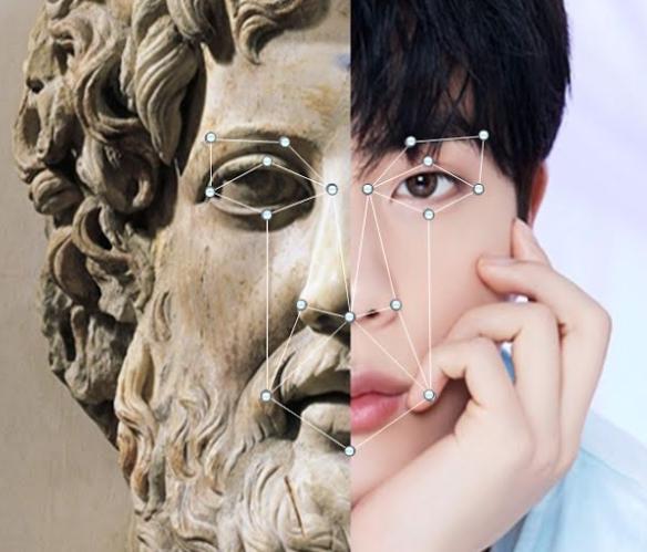「ゼウス像と韓国の歌手キム・ソクジンが物理的に似ていることが明らかになった」